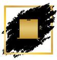 elevators door sign golden icon at black vector image
