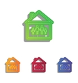 Family sign Colorfull applique icons vector image vector image