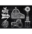 Farm vintage chalk vector image