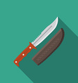 Flat design modern of hunting knife icon camping vector image vector image