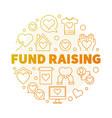 fund raising round creative linear vector image vector image