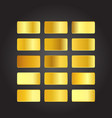 gold bar collection vector image vector image