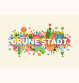green city german language concept vector image vector image