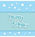 greeting card greetings happy birthday vector image vector image