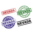 grunge textured nevada seal stamps vector image