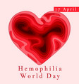hemophilia world day poster emblem medical sign vector image
