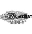 it s not the size of your bank account text vector image vector image