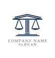 lawyer logotype vector image