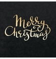 Merry Christmas gold lettering vector image vector image