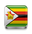 Metal icon of Zimbabwe vector image