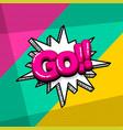 pop art comic text vector image vector image