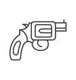 revolver linear icon vector image vector image