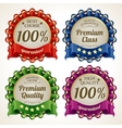 Ribbon labels set vector image vector image