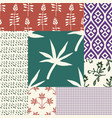 seamless patchwork set vector image