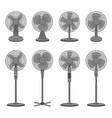 set of electric black fan vector image vector image