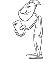 shooting with smartphone coloring page vector image