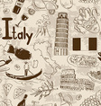 Sketch Italy seamless pattern vector image vector image