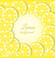 slices of lemon background vector image vector image