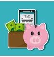 smartphone document piggy wallet bill icon vector image vector image