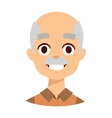 Smiling grandpa vector image vector image