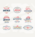 steak house or meat store typography labels vector image vector image