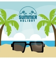 Summer design palm tree and glasses icon vector image vector image