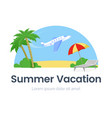 summer vacation web banner template vector image vector image