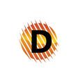 technology letter d vector image vector image