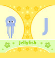 the english alphabet with jellyfish vector image vector image