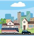 transportation concept cartoon vector image vector image