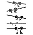 Vintage bows isolated on white background vector image