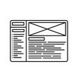 website wireframe line icon outline vector image