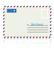 White envelope with stamp vector image vector image