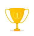 winner cup flat icon isolated vector image