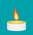 tea candle flat icon vector image