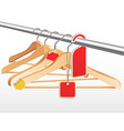 wooden hangers vector image