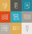 document and paper signs and icons vector image