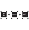Polaroid I love You vector image