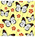 Seamless grunge butterfly texture 528 vector image