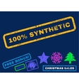 100 Percent Synthetic Rubber Stamp vector image vector image