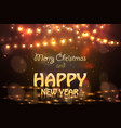 2019 happy new year colourful glowing christmas vector image vector image