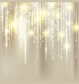 abstract elegant christmas golden fabric vector image vector image