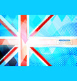 abstract flag of the united kingdom shape scene vector image vector image