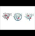 apple tree branch vector image vector image