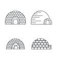 arctic igloo icon set outline style vector image vector image
