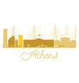 Athens City skyline golden silhouette vector image vector image