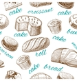 baking pastry seamless wallpaper vector image