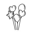 balloons party icon doodle hand drawn or outline vector image