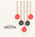 beautiful christmas decorative balls greeting vector image vector image