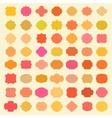 Big Colorful Vintage Badges Set vector image